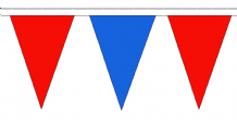 Red and Blue Traditional 20m 54 Flag Polyester Triangle Flag Bunting